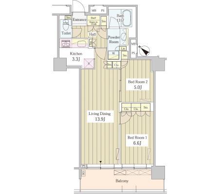 ユニゾンタワー2602号室
