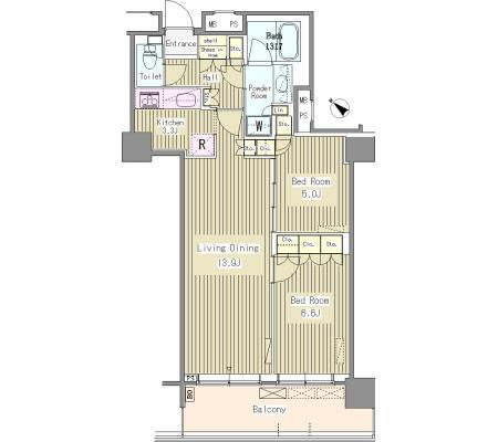 ユニゾンタワー3102号室