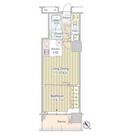 ユニゾンタワー611号室