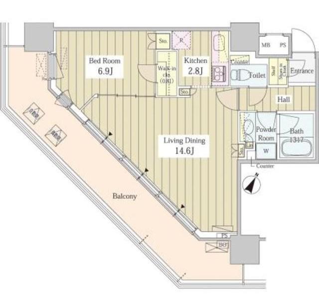 ユニゾンタワー704号室