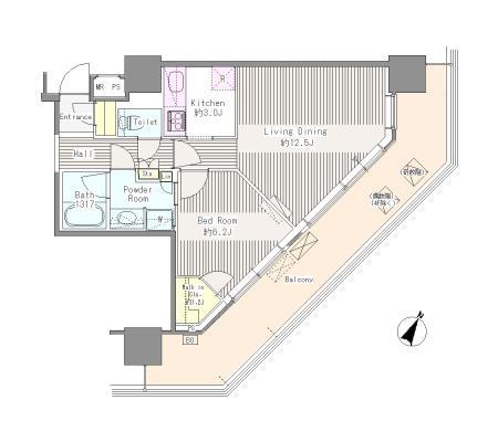 ユニゾンタワー709号室