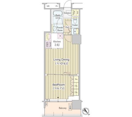 ユニゾンタワー711号室
