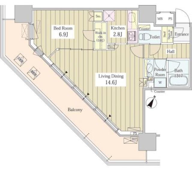 ユニゾンタワー804号室