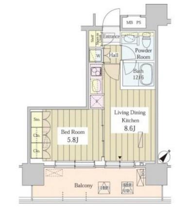 ユニゾンタワー805号室