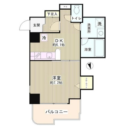 プラザ小島屋抜弁天ビル302号室