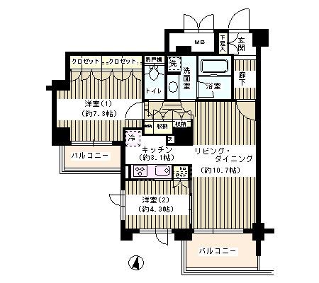 アゼリアテラス新宿709号室