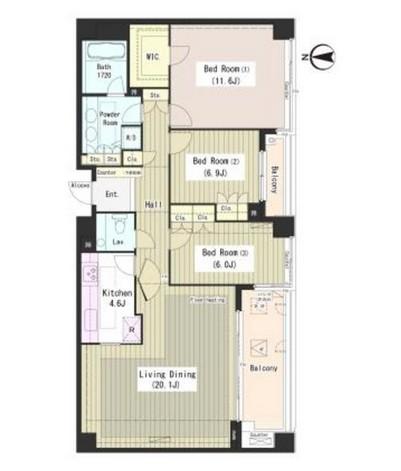 外苑レジデンス201号室