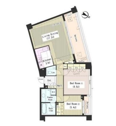 外苑レジデンス206号室