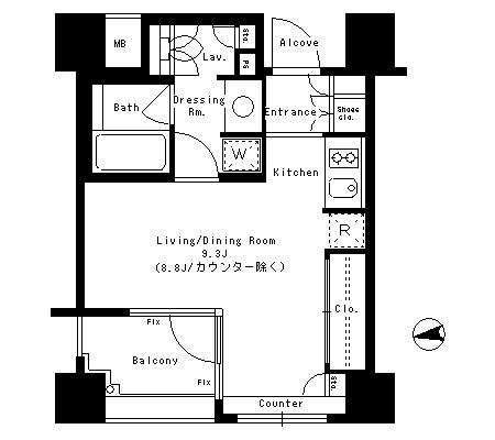 パークアクシス神楽坂ステージ306号室