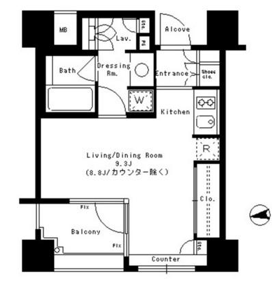パークアクシス神楽坂ステージ404号室