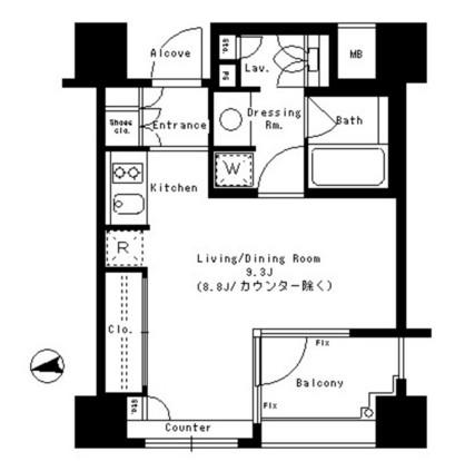 パークアクシス神楽坂ステージ707号室