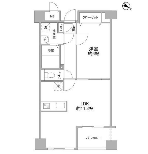 クエスタ高輪203号室