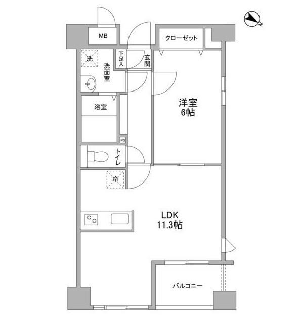 クエスタ高輪603号室