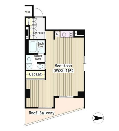 LA・RES西麻布304号室