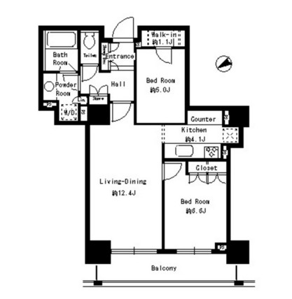 パークタワー芝浦ベイワード アーバンウイング1406号室