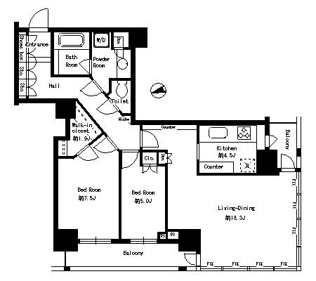 パークタワー芝浦ベイワード アーバンウイング1705号室