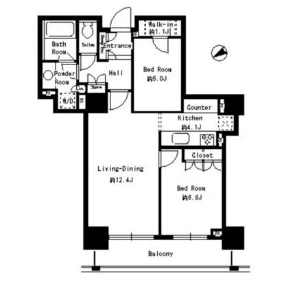 パークタワー芝浦ベイワード アーバンウイング1806号室