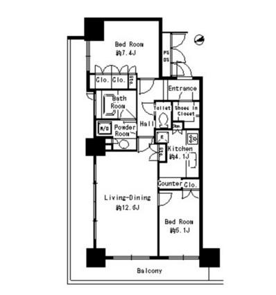 パークタワー芝浦ベイワード アーバンウイング1808号室