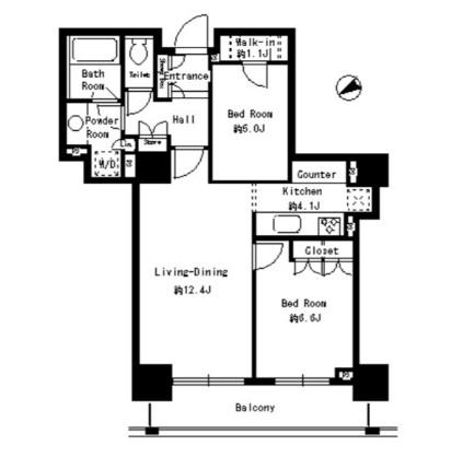 パークタワー芝浦ベイワード アーバンウイング2006号室