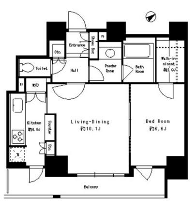 パークタワー芝浦ベイワード アーバンウイング401号室