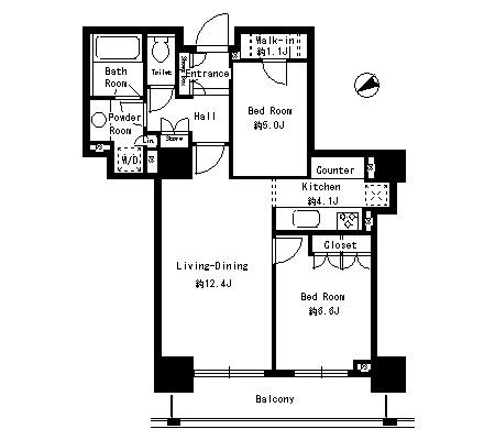 パークタワー芝浦ベイワード アーバンウイング406号室