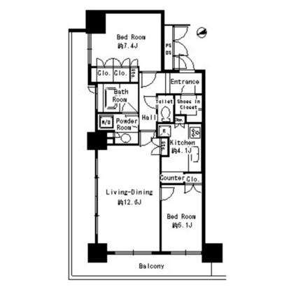 パークタワー芝浦ベイワード アーバンウイング608号室