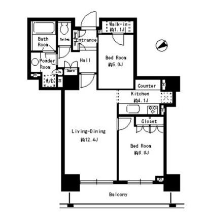 パークタワー芝浦ベイワード アーバンウイング806号室