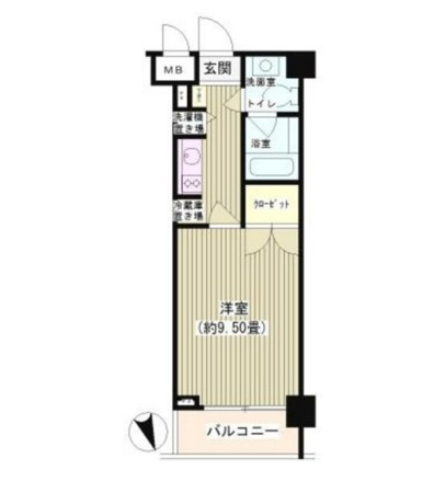 NONA PLACE渋谷富ヶ谷405号室の図面