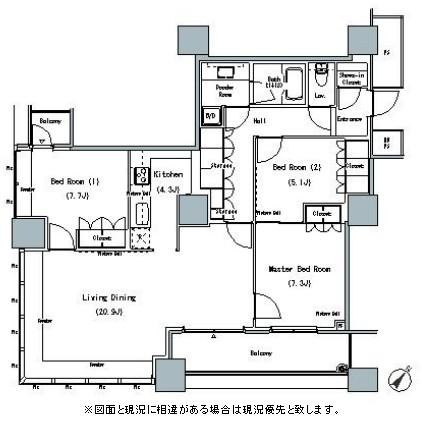 THE TOKYO TOWERS MIDTOWER3009号室