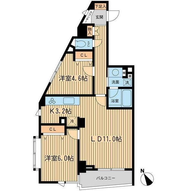 THEパームス代々木上原ヴェールテラス201号室