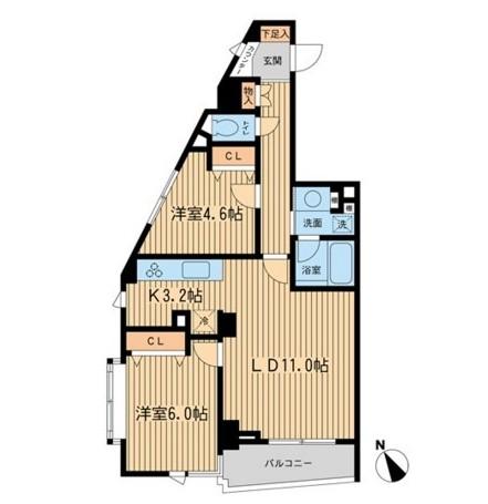 THEパームス代々木上原ヴェールテラス301号室