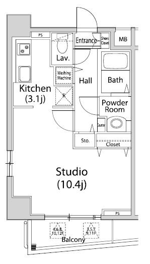 グレイスコート西麻布I401号室