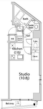 グレイスコート西麻布Ⅱ802号室