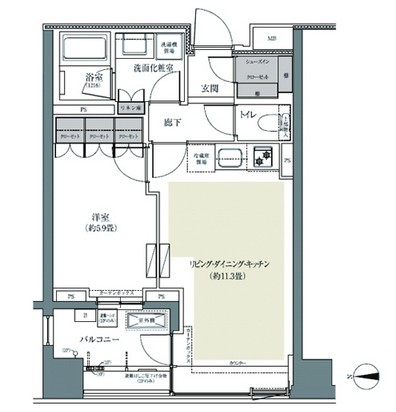 パークハウス東中野リヴゴーシュ222号室