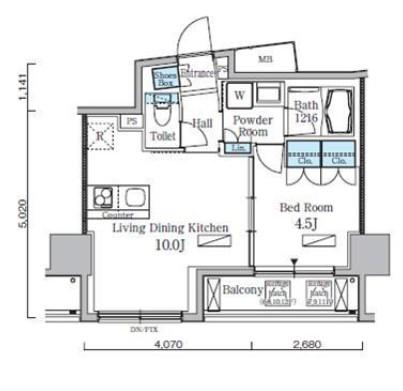 レジディア九段下Ⅱ602号室