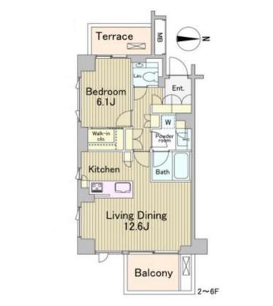 ラフォンテ麻布十番601号室