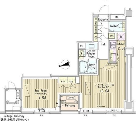 パークアクシス御成門1608号室
