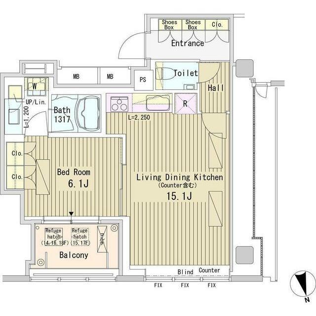パークアクシス御成門1801号室