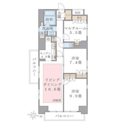 Brillia ist 東雲キャナルコート1014号室