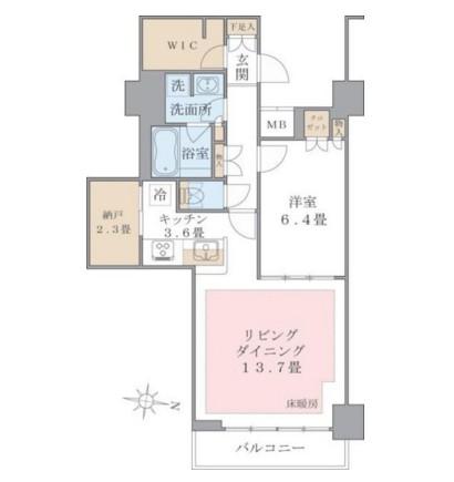 アパートメンツ東雲キャナルコート1025号室