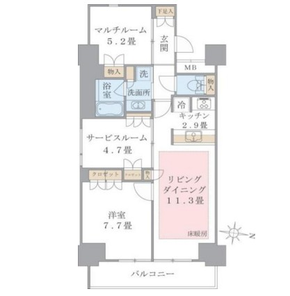 Brillia ist 東雲キャナルコート1115号室