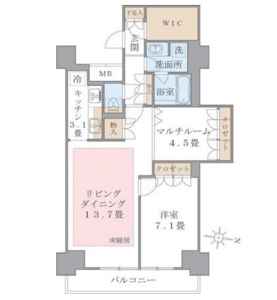 Brillia ist 東雲キャナルコート1126号室