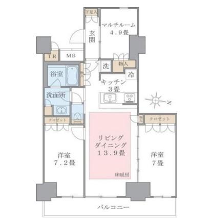 Brillia ist 東雲キャナルコート1220号室
