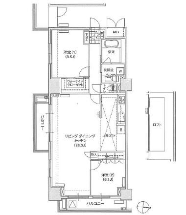 アパートメンツ東雲キャナルコート1413号室