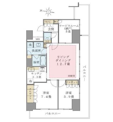 アパートメンツ東雲キャナルコート314号室
