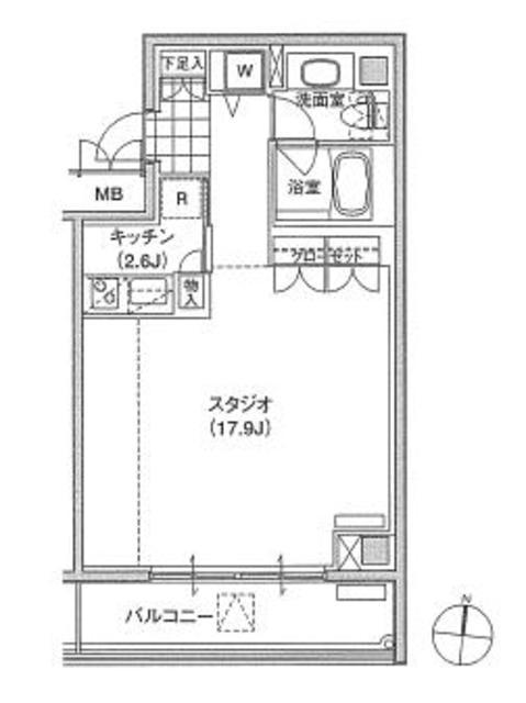 アパートメンツ東雲キャナルコート342号室