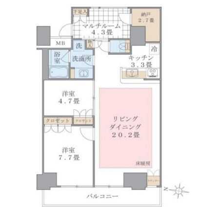 Brillia ist 東雲キャナルコート406号室