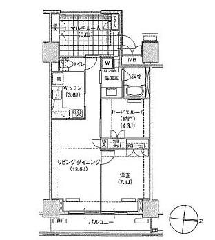 アパートメンツ東雲キャナルコート417号室