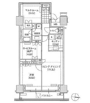 アパートメンツ東雲キャナルコート418号室