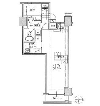 アパートメンツ東雲キャナルコート428号室
